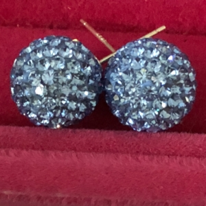 Caleighs Crystals - Cornflower Stud Earrings