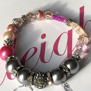 Caleighs Crystals - Grey Bracelet